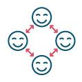 Une organisation dite « flat » ou horizontale qui reste simple, humaine et fluide :