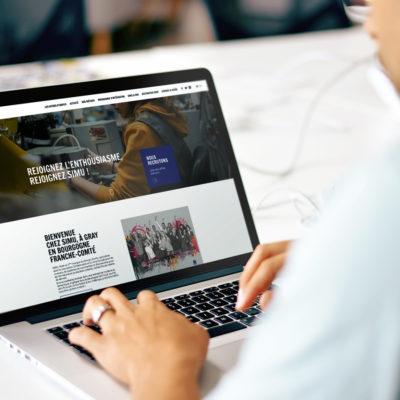 Création site web Simu Careers, agence de communication Propulse